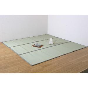 上敷き い草カーペット 6畳 双目織 フリーカット 日本製 梅クラス 「F浜名(はまな)」 江戸間 6畳(約261×352cm) ウレタン付|i-s