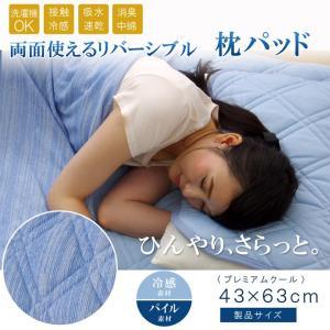 枕パッド 冷感 夏 涼感 接触冷感 消臭 洗える 部屋干し プレミアムクール 約43×63cm i-s