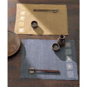 クーポン対象 ランチョンマット 手織り 本麻 「彩楽(さいらく)」 32×45cm i-s
