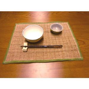 クーポン対象 ランチョンマット 手織り 本麻 「かづら」 32×42cm i-s