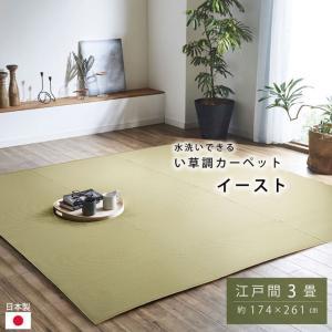 ポリプロピレン カーペット 「イースト」 江戸間3畳(約174×261cm) ラグ 洗える 屋外 ビニールカーペット