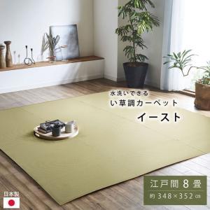 ポリプロピレン カーペット 「イースト」 江戸間8畳(約348×352cm) ラグ 洗える 屋外 ビニールカーペット