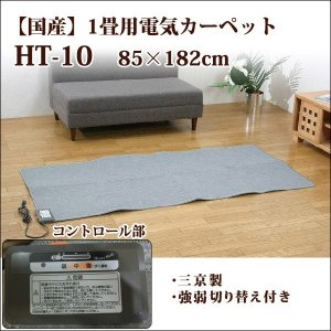 1畳 ホットカーペット 本体のみ 182×85cm HT-T10 電気カーペット本体 アウトレット 在庫処分|i-s
