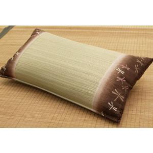 い草低反発まくら 日本製 「水彩(すいさい)」 50×30cm 日本製 枕 まくら マクラ 夏 接触冷感 冷感 涼感 快眠 寝具 涼感枕|i-s