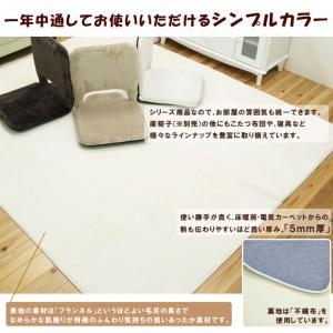 掘りごたつ カーペット 敷き布団 正方形 「H・フラン」 185×185cm (くり抜き部:90×90cm) 敷布団 カーペット 2畳 フランネル|i-s|03