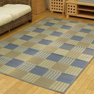 ●おしゃれな市松模様の和風い草カーペットです。(敷き詰めタイプ) ・柄の異なる模様を市松状に組み合わ...
