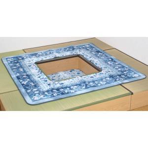 クーポン対象 掘りごたつ用カーペット ラグ 3畳 「Hロザリー」 200×250cm 穴サイズ:90×120cm ホットカーペット対応 (g) i-s
