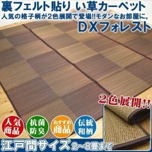い草ラグ い草カーペット 2畳 「DXフォレスト」 江戸間2畳 約174×174cm 和 市松|i-s