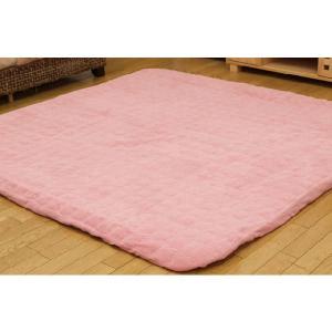 ラグカバー ふっくら敷き対応 洗える 洗濯可 2畳 「マーブレット」 190×190cm 厚敷き用 ラグ用 すっぽり 2畳|i-s