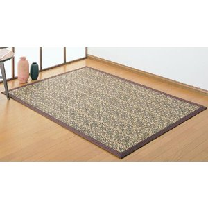 籐ラグカーペット 「レジェンド」 約140×200cm(約1.8畳) 夏 ひんやり 涼感 アジアン 籐 トウ とう 敷物|i-s