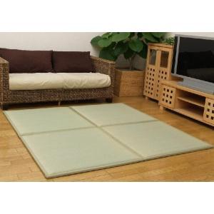 置き畳 ふっくら畳 ユニット畳 82X82cm(約0.4畳) い草 ウレタン・フェルト入り ふっくら畳 フローリング いぐさ イ草 和 たたみ 置く 置き タタミ 軽量|i-s