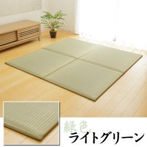 置き畳 日本製 ユニット畳 フローリング畳 「あぐら(低反発)」約82×82cm 9枚セット(約4.0畳) 置き畳 畳 軽量 正方形 い草|i-s|06