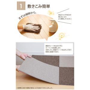 吸着タイルカーペット 約40×40×0.6cm 同種類10枚セット (tm) 洗える ウォッシャブル 簡単設置 吸着 付け替え 部分洗い|i-s|02