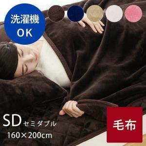 毛布 セミダブル 「フランネル毛布」 約160×200cm フランネル 洗える 暖かい あったか 軽量 冬 寒さ対策|i-s
