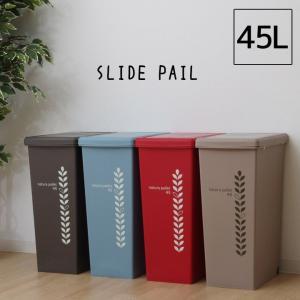 スライドペール 45L用 ごみ箱 ゴミ箱 キャスター付き 角型 スクエア型 おしゃれ ダストボックス キッチン 蓋付 IT|i-s