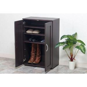 シューズボックス 靴箱 省スペース 「SR6090BR」 靴箱 小型 小さめ おしゃれ シンプル|i-s