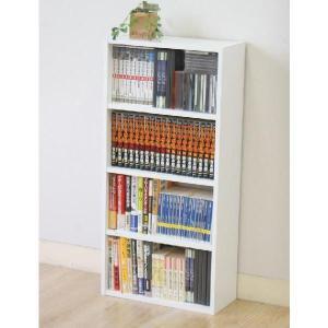クーポン対象 DVDラック 本棚 カラーボックス 4段 BDラック Book DVDラック DVD収納ラック カラーボックス 収納ボックス 収納棚 整理棚 セット HP9418|i-s