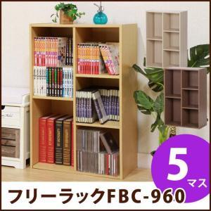 マルチラック フリーボックス 「FBC960」 本棚 収納家具 カラーボックス 新生活 5マス 収納 棚 多目的棚 縦横兼用|i-s