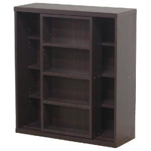 本棚 スライドラック 80cm幅(文庫本 マンガ本など) 「レガール」 fbc ブックシェルフ 棚 シェルフ ラック|i-s