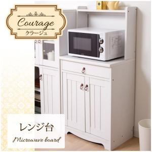 レンジ台 木製 「クラージュ」 幅60 it-tm ホワイト 白 シャビーシック 家具 おしゃれ 一人暮らし 新生活|i-s