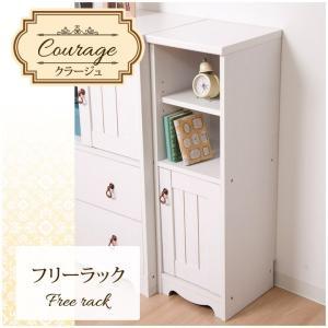 フリーラック 木製 「クラージュ」 it-tm ホワイト 白 お客様組み立て シャビーシック 家具 おしゃれ 一人暮らし 新生活|i-s