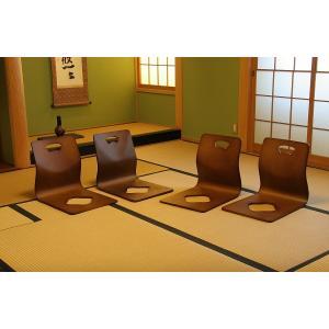 和座椅子 木製 和室 和座いす 料亭 旅館 小...の詳細画像4