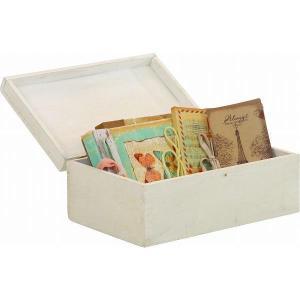 クーポン対象 小物入れ 蓋付きボックス 木製 mokuシリーズ アンティーク雑貨 小物 収納 ダメージ加工 ラック フレンチカントリー風|i-s