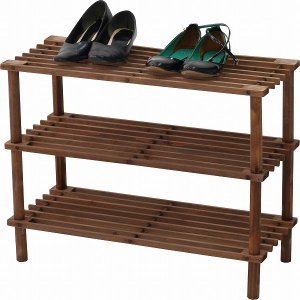シューズラック マルチフリー 3段 簡易家具 靴棚 収納棚 スリム フリーラック 整理 リビング すき間収納 木製 小物置き ZSJ05064-B|i-s