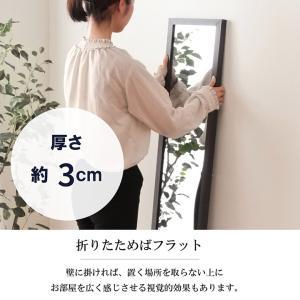 スタンドミラー 鏡 ミラー 姿見 木製 HB-2715NC 木製スタンドミラー 全身鏡 全身姿見 美容室(fbc)|i-s|05