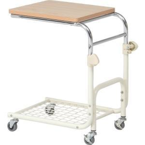 ベッドテーブル 片側キャスター付き テーブル 台 ベッド 作業台 作業 BT-018|i-s