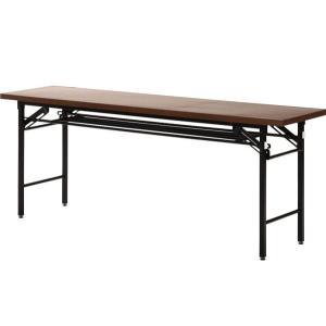 会議テーブル ハイタイプ 180×60cm 「6070D」 長机 机 テーブル 折り畳み 折りたたみ 脚折れ 会議 ミーティング イベント 学校 収納 fbc i-s 02