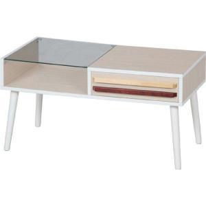 リビングテーブル 「オスロ-HH-8040PG-」(fbc) 幅80cm リビング テーブル ローテーブル ガラステーブル センターテーブル おしゃれ 机|i-s