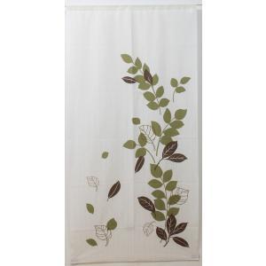 のれん 暖簾 「リーフ2」 約85×170cm (it) ロング 暖簾 おしゃれ のれん 北欧|i-s