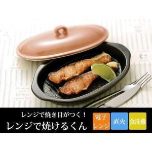 耐熱陶器 「レンジで焼けるくん 楕円」 焼き魚用 電子レンジ対応 レンジで焼き目が付く|i-s