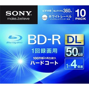 SONY 10BNR2VGPS4 ビデオ用BD-R 追記型 i-selection