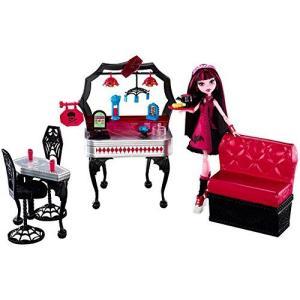 モンスターハイ 人形 ドール フィギュア ドラキュローラ プレイセット Monster High Die-Ner and Draculaura Playset and Doll i-selection