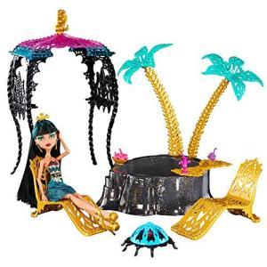 モンスターハイ 人形 ドール フィギュア クレオ・デ・ナイル プレイセット Monster High 13 Wishes Oasis Cleo De Nile Doll & Playset i-selection