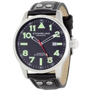 ストゥーリング オリジナル Stuhrling Original メンズ 腕時計 時計 Stuhrling Original Men's 141.33151 Leisure Tuskegee Eagle Swiss Quartz Date Wa|i-selection