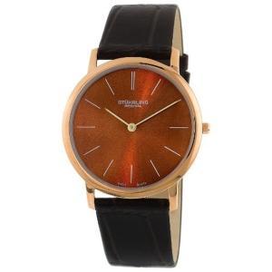 ストゥーリング オリジナル Stuhrling Original メンズ 腕時計 時計 Stuhrling Original Men's 601.3345K55 Classic Ascot Ultra-Thin Watch with Croco|i-selection