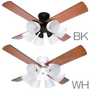 【あすつく】シーリングファン Windouble ウィンダブル 6灯   BIG-102   全2色   羽根径106cm   リバーシブル羽根   リモコン付属   1年保証 i-shop-sakura