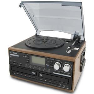 DCT 木目調 ダブルCD録音機能付 マルチレコードプレーヤー | DCT-7000W | CDへ直接録音可能 | 1年保証付|i-shop-sakura