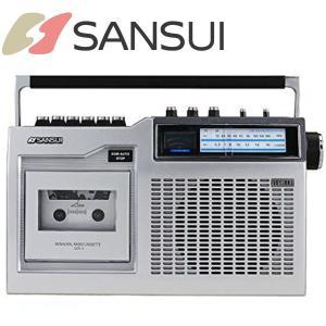 SANSUI ラジカセ | SCR-3 | モノラルラジオカセット | パワーVUメーター搭載 2電源方式 | サンスイ 1年保証|i-shop-sakura