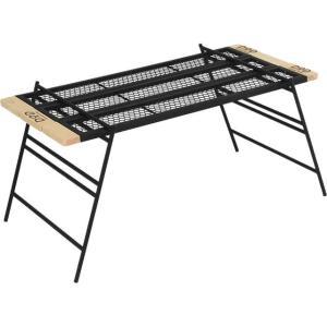■■おもな特長■■ 焚き火の上でも使用できるタフな鉄製テーブルです。 プレートやレッグの追加購入やワ...