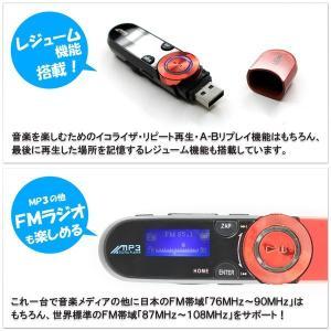 小型 ボイスレコーダー 録音機能 FMラジオ付 多機能 MP3オーディオプレーヤー 本体 充電式 見やすいデジタル液晶表示 SDHC対応 日本語表示 音楽再生 ◇ SP17|i-shop777|04