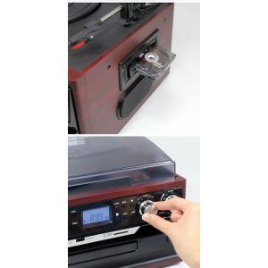 レコード/カセットテープ/CD/ラジオ対応レコードプレーヤー SD・USB直接録音 スピーカー内蔵 オーディオシステム 再生 訳あり品  限定セール ◇ ▼MA-17CD/21|i-shop777|04