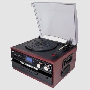 レコード/カセットテープ/CD/ラジオ対応レコードプレーヤー SD・USB直接録音 スピーカー内蔵 オーディオシステム 再生 訳あり品  限定セール ◇ ▼MA-17CD/21|i-shop777|05