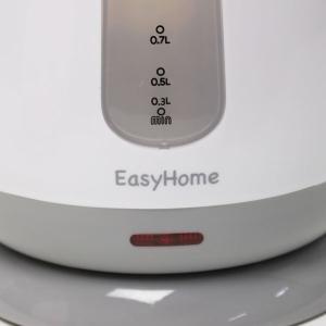 電気ケトル 1.0L ワンプッシュで簡単沸騰 コードレスケトル 自動湯沸かし器 おしゃれ コンパクト 省エネ 電源オートオフ 節電 人気 急速 ◇ 電気ケトル KTK-300|i-shop777|04