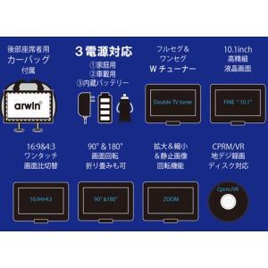 送料無料 地上デジタル放送が見れる!10.1インチ液晶ポータブルDVDプレーヤー CPRM対応/3電源 CD音楽→SD/USBに直接録音 テレビ付き ◇ フルセグDVD-PD10FS|i-shop777|04
