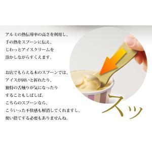 アイスクリームスプーン 驚くほどスッとすくえる アルミ製 アイススプーン 熱伝導 カチカチが理想のなめらかさ 動画付き 話題 人気 ◇ アイスクリームスプーンU|i-shop777|03