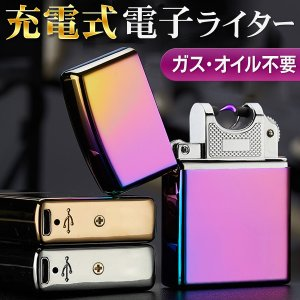専用メタルケース付 電子ライター USB充電式 くり返し使え...
